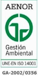 Certificado AENOR Gestión Ambiental.